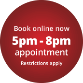 5pm-8pm appointment slot