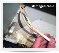 Photo of damaged cable